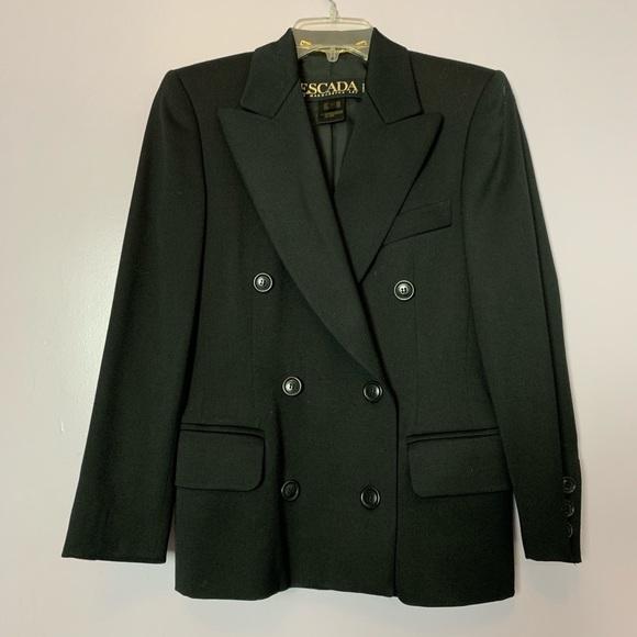 Escada Jackets & Blazers - Esacada Margaretha Ley Wool Double Breasted Blazer